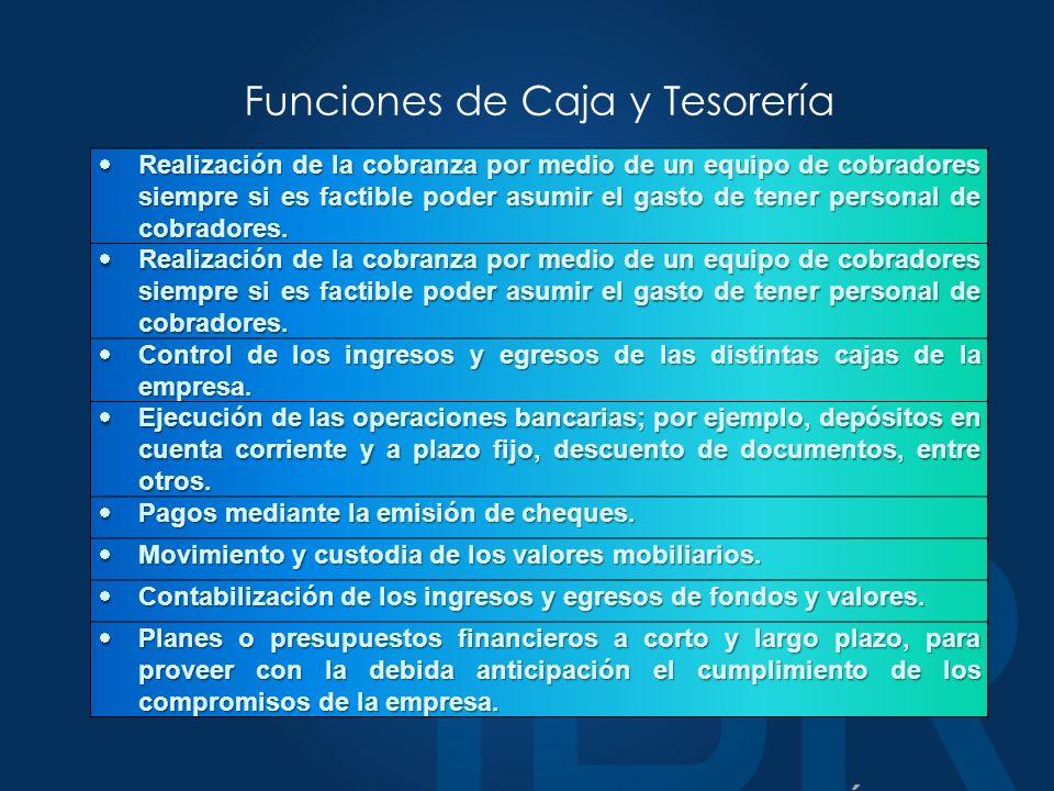 Funciones de Caja y Tesorería