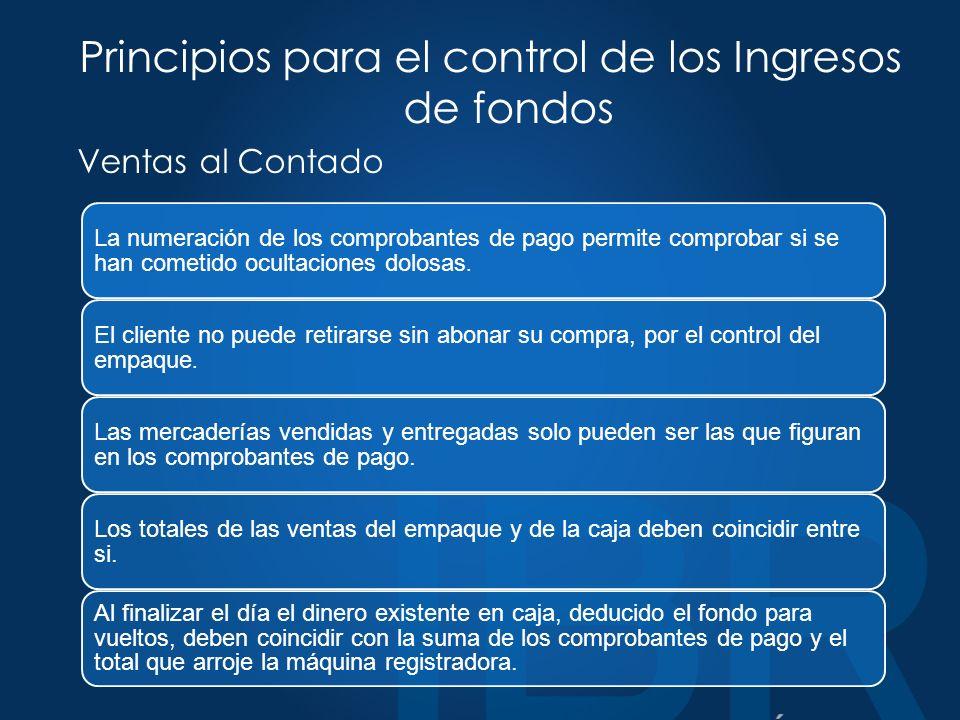 Principios para el control de los Ingresos de fondos