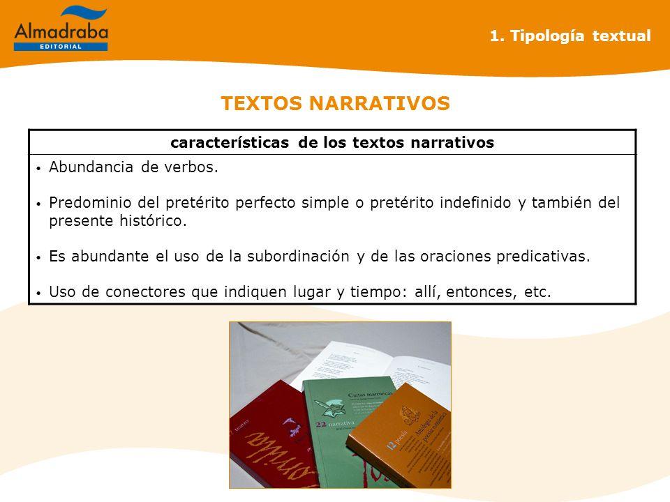 características de los textos narrativos