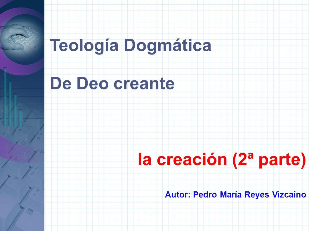 Teología Dogmática De Deo creante