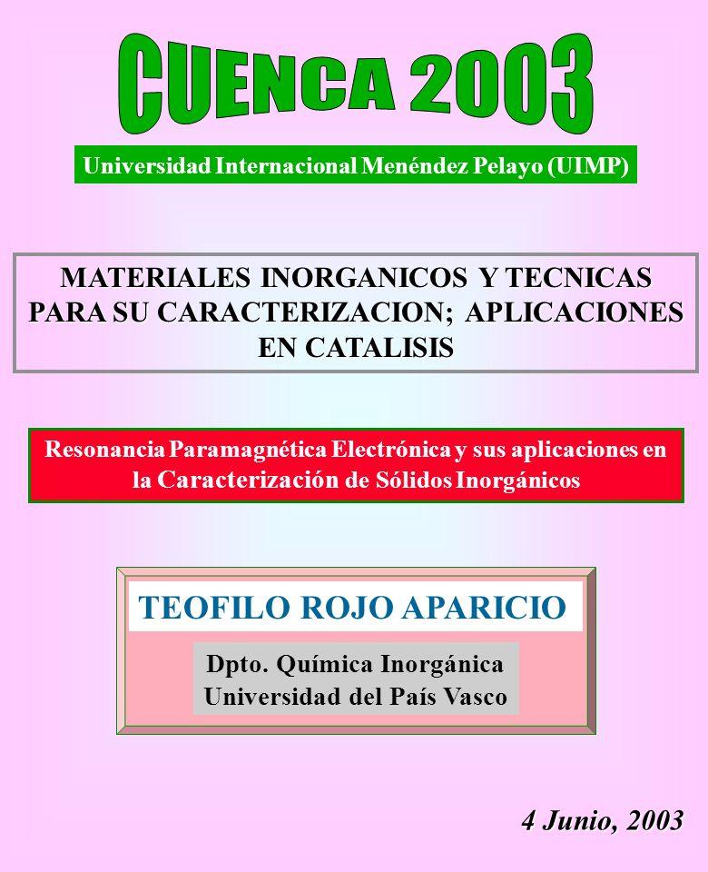 Dpto. Química Inorgánica Universidad del País Vasco
