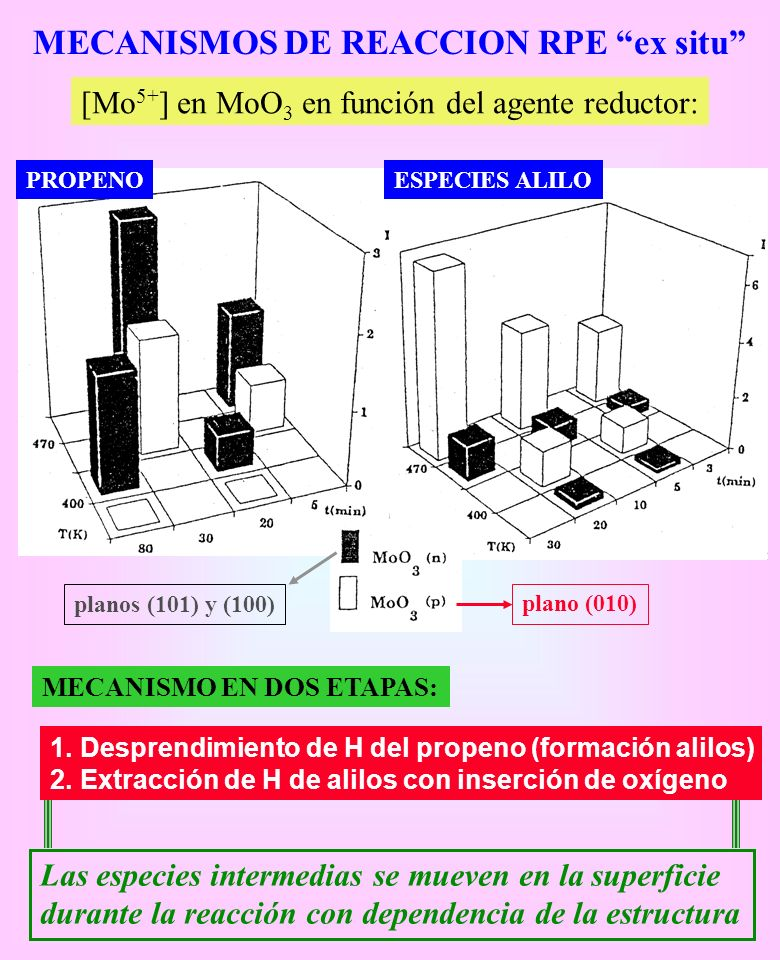 MECANISMOS DE REACCION RPE ex situ