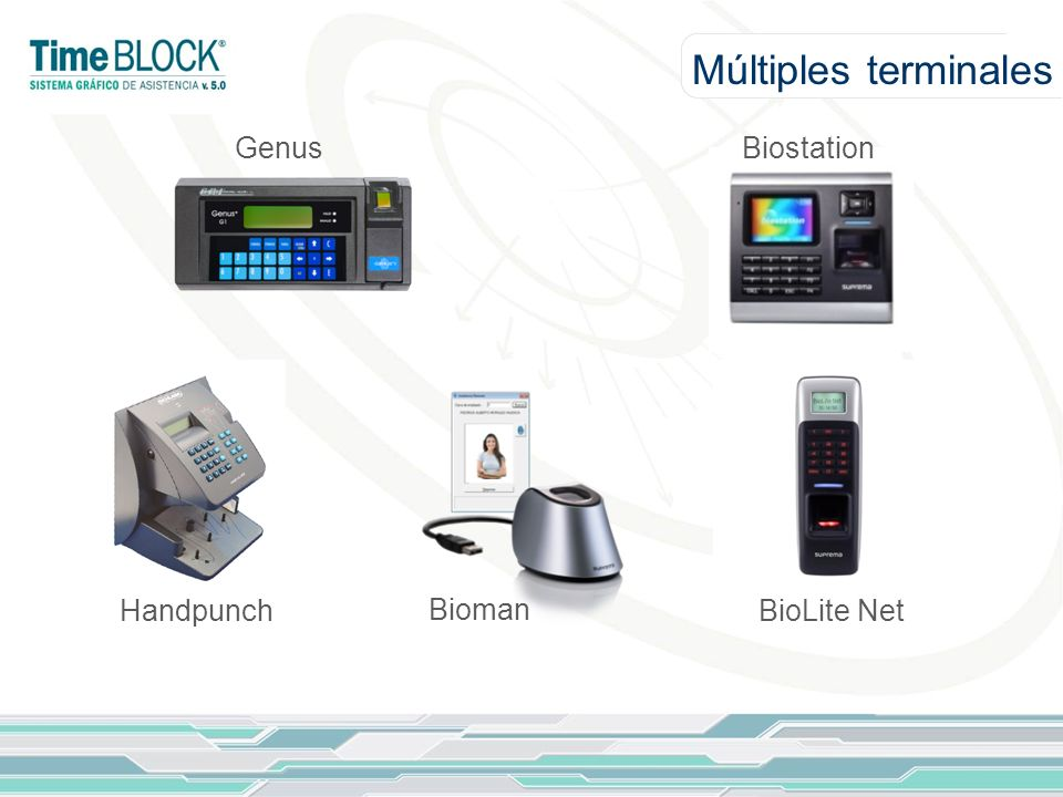 Múltiples terminales Genus Biostation Handpunch Bioman BioLite Net