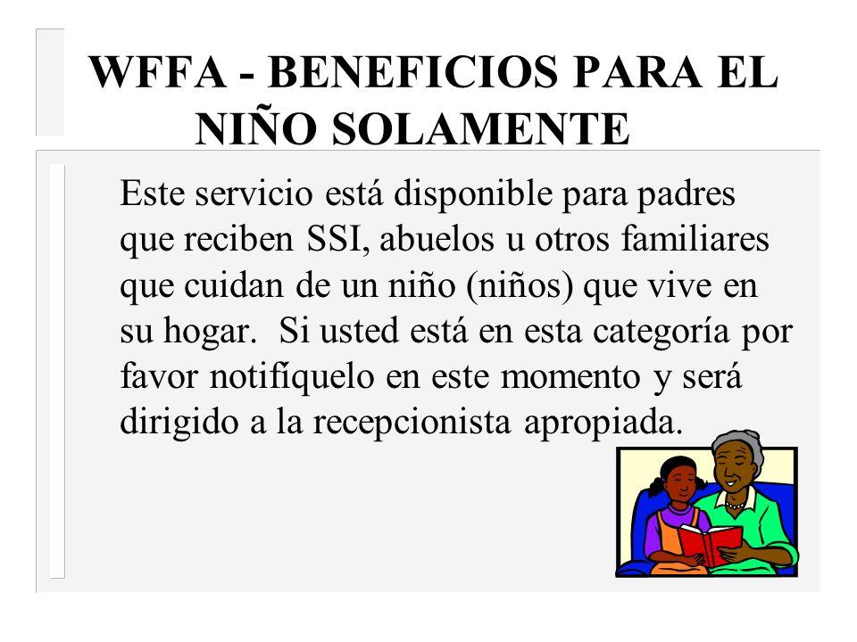 WFFA - BENEFICIOS PARA EL NIÑO SOLAMENTE