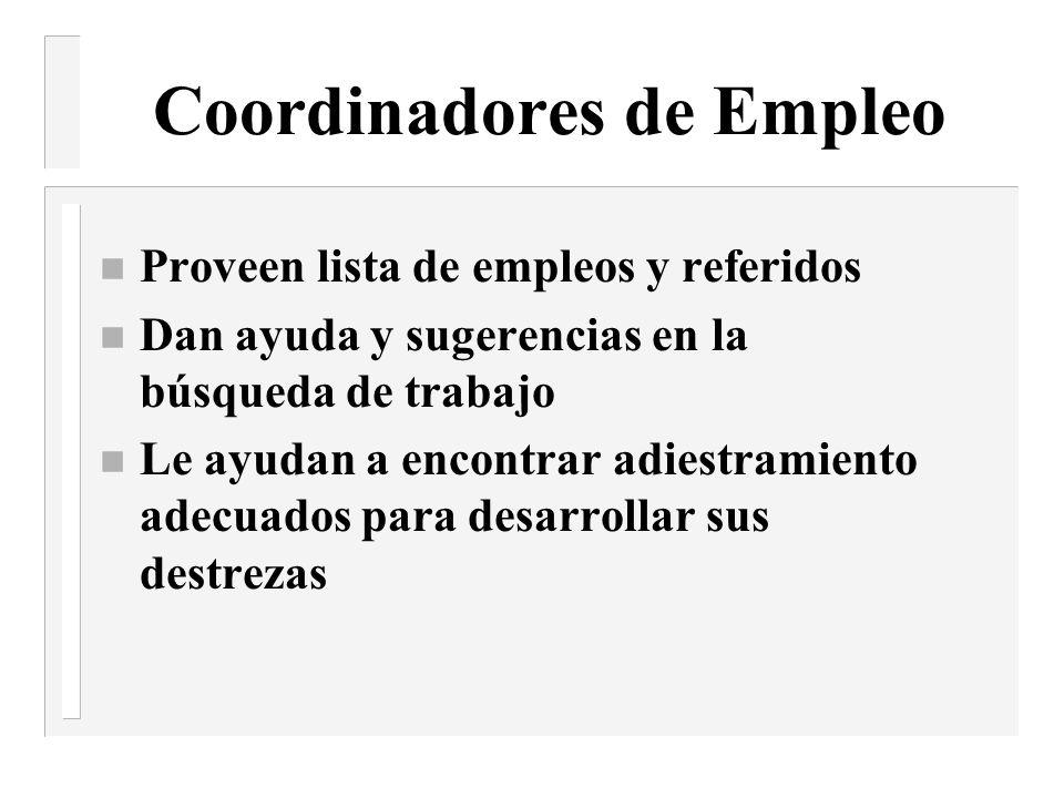 Coordinadores de Empleo