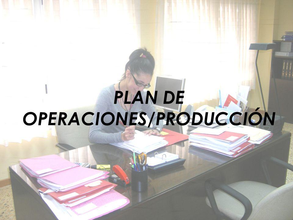 PLAN DE OPERACIONES/PRODUCCIÓN