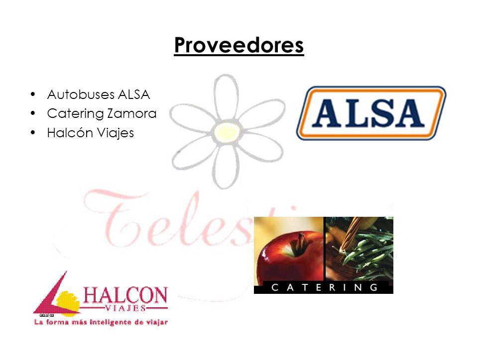 Proveedores Autobuses ALSA Catering Zamora Halcón Viajes