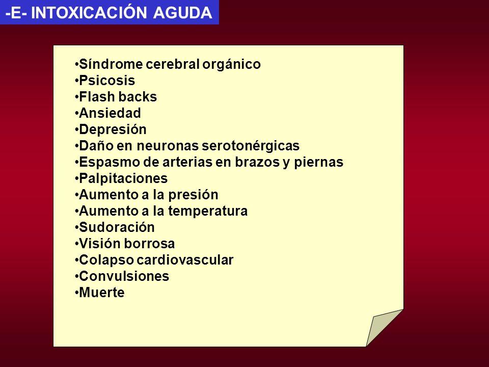 -E- INTOXICACIÓN AGUDA