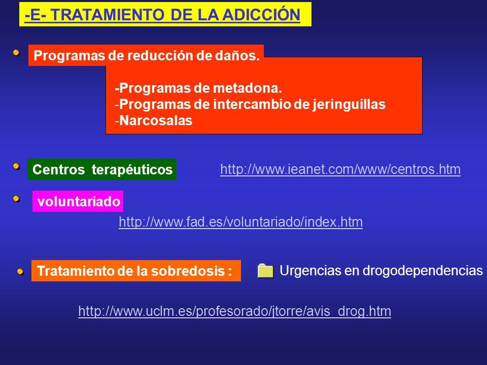 -E- TRATAMIENTO DE LA ADICCIÓN
