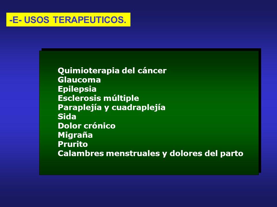 -E- USOS TERAPEUTICOS.