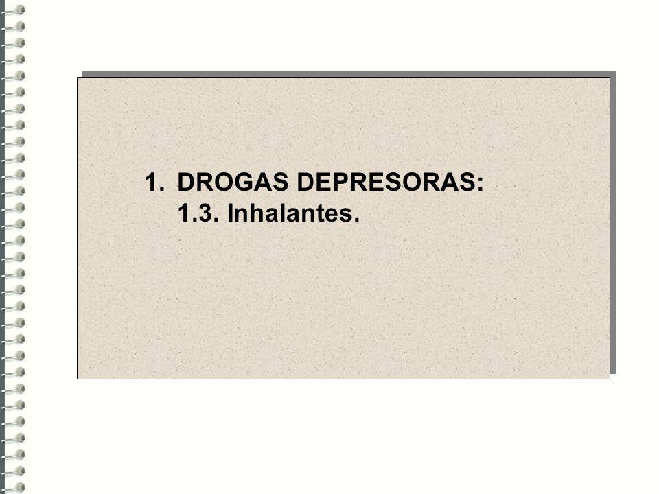 DROGAS DEPRESORAS: 1.3. Inhalantes.
