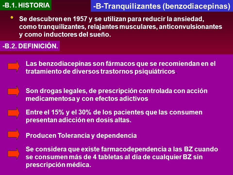 -B-Tranquilizantes (benzodiacepinas)