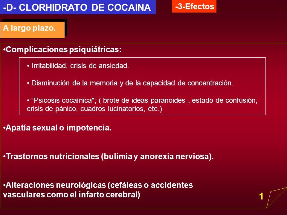 -D- CLORHIDRATO DE COCAINA