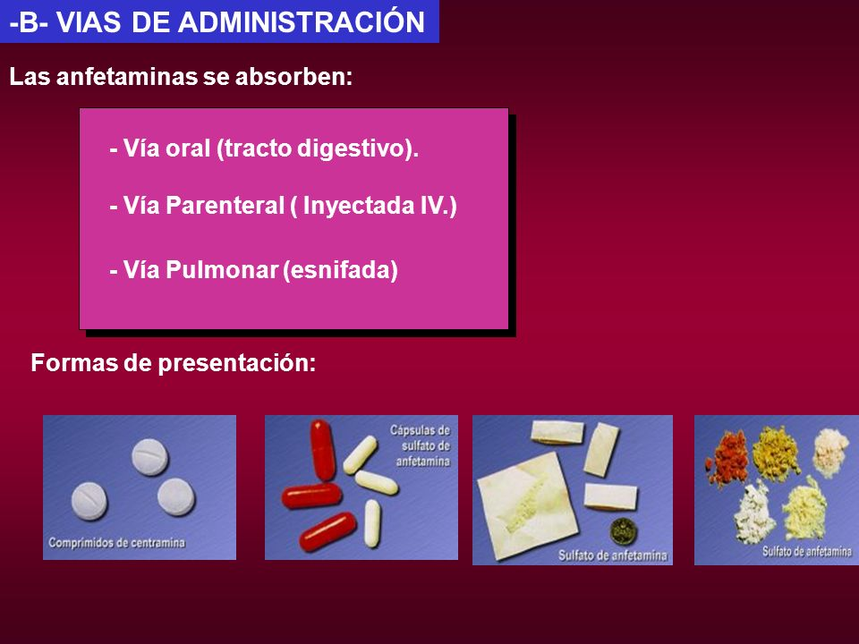 -B- VIAS DE ADMINISTRACIÓN
