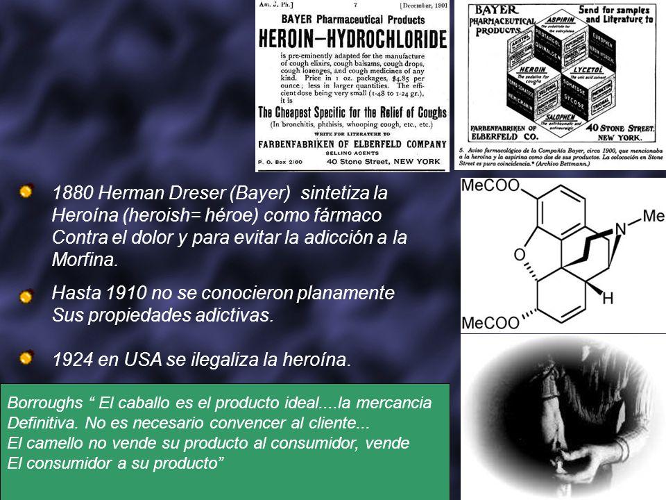 1880 Herman Dreser (Bayer) sintetiza la
