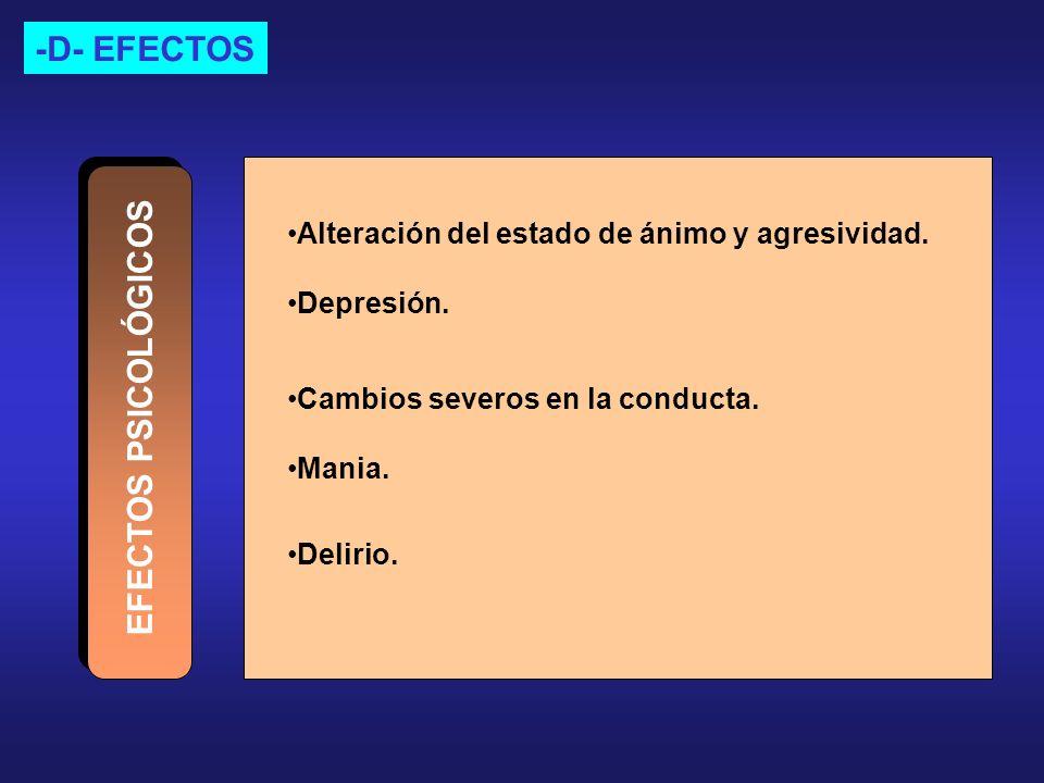 -D- EFECTOS EFECTOS PSICOLÓGICOS