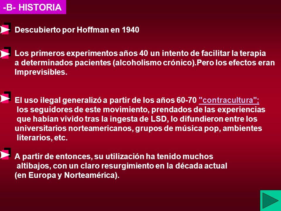 -B- HISTORIA Descubierto por Hoffman en 1940
