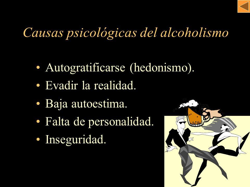 Causas psicológicas del alcoholismo