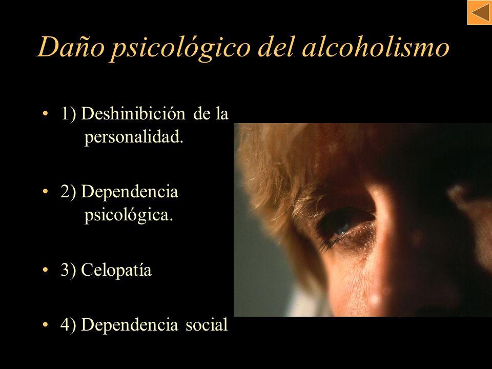 Daño psicológico del alcoholismo