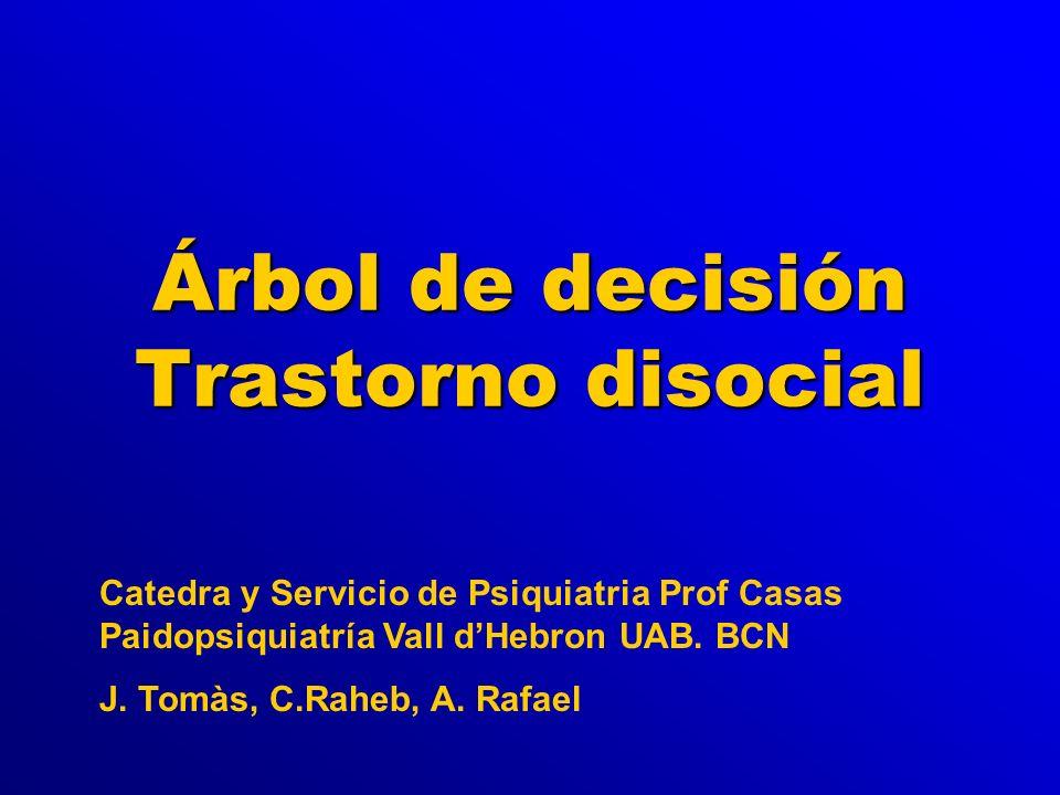 Árbol de decisión Trastorno disocial