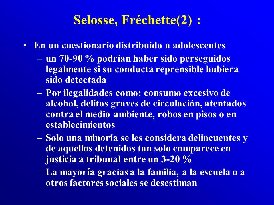 Selosse, Fréchette(2) : En un cuestionario distribuido a adolescentes
