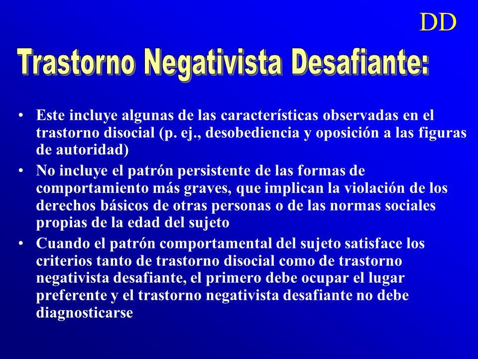 Trastorno Negativista Desafiante: