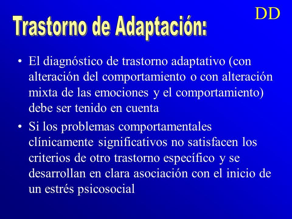 Trastorno de Adaptación: