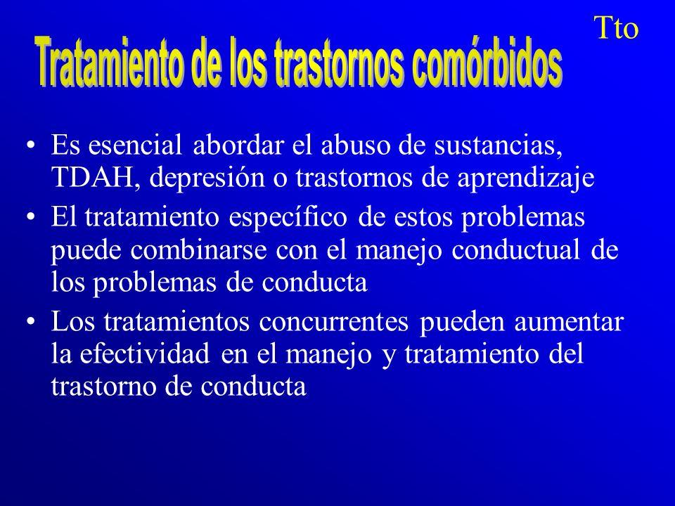 Tratamiento de los trastornos comórbidos
