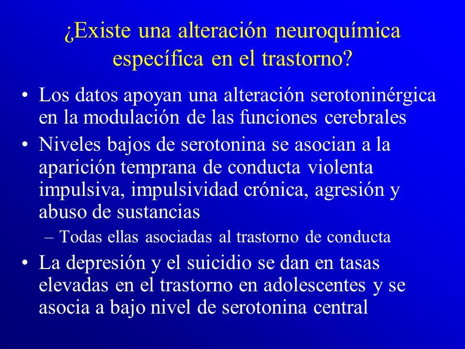 ¿Existe una alteración neuroquímica específica en el trastorno