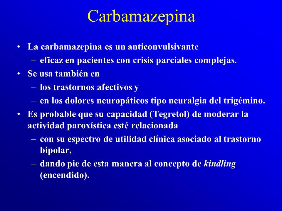 Carbamazepina La carbamazepina es un anticonvulsivante