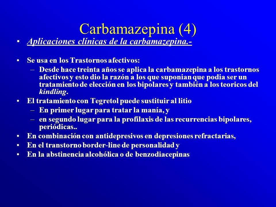 Carbamazepina (4) Aplicaciones clínicas de la carbamazepina.-