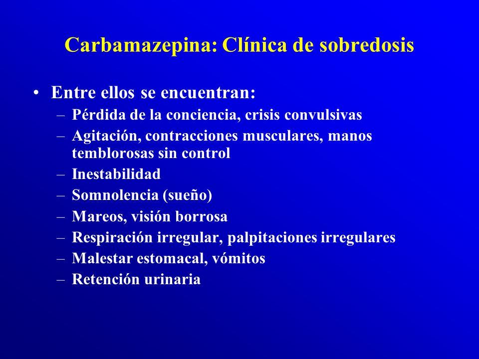 Carbamazepina: Clínica de sobredosis