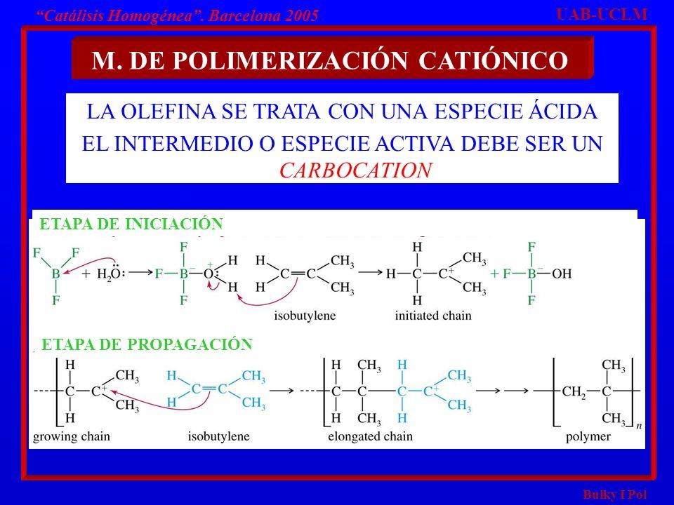 M. DE POLIMERIZACIÓN CATIÓNICO