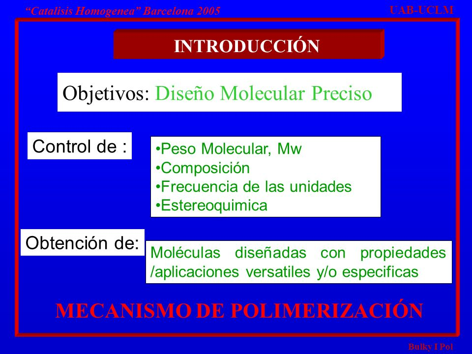 Objetivos: Diseño Molecular Preciso