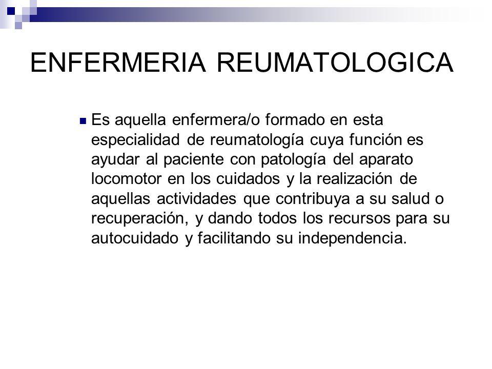 ENFERMERIA REUMATOLOGICA