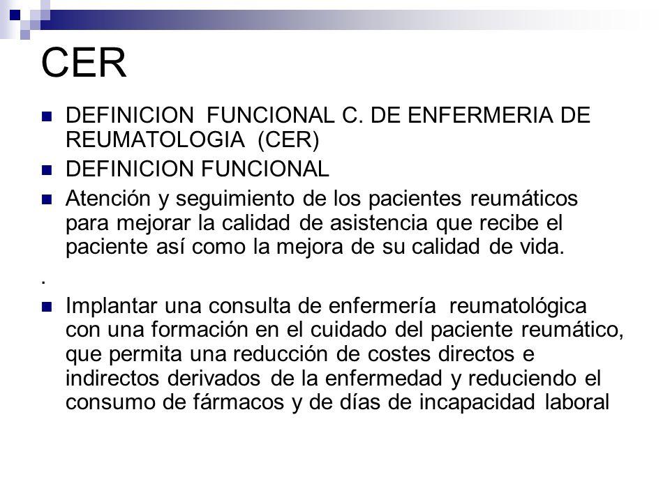 CER DEFINICION FUNCIONAL C. DE ENFERMERIA DE REUMATOLOGIA (CER)