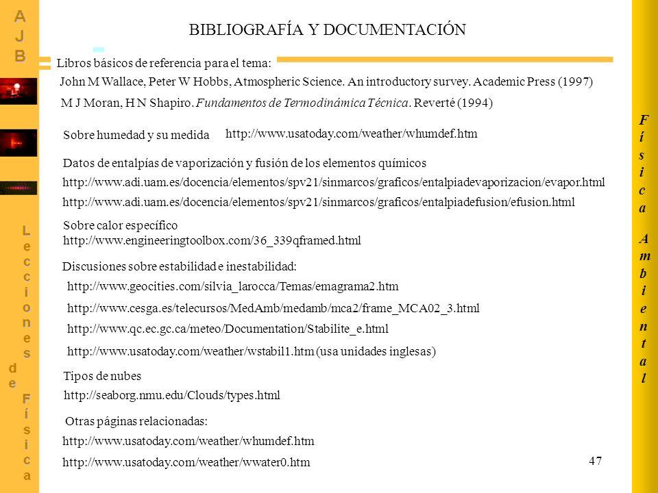BIBLIOGRAFÍA Y DOCUMENTACIÓN