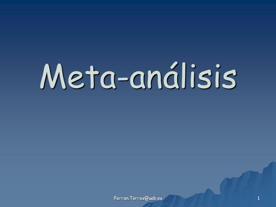 Meta-análisis Ferran.Torres@uab.es
