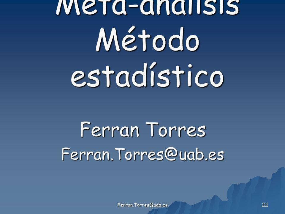 Meta-análisis Método estadístico