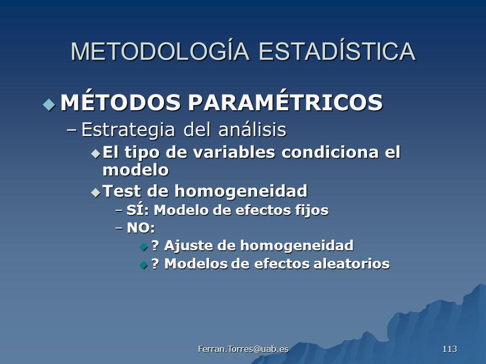 METODOLOGÍA ESTADÍSTICA