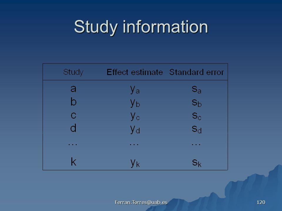 Study information Ferran.Torres@uab.es