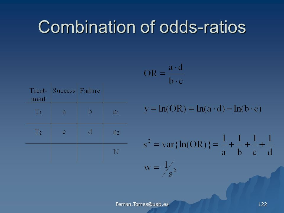 Combination of odds-ratios