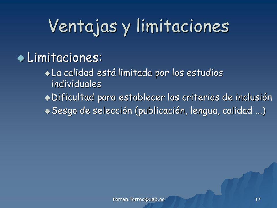 Ventajas y limitaciones