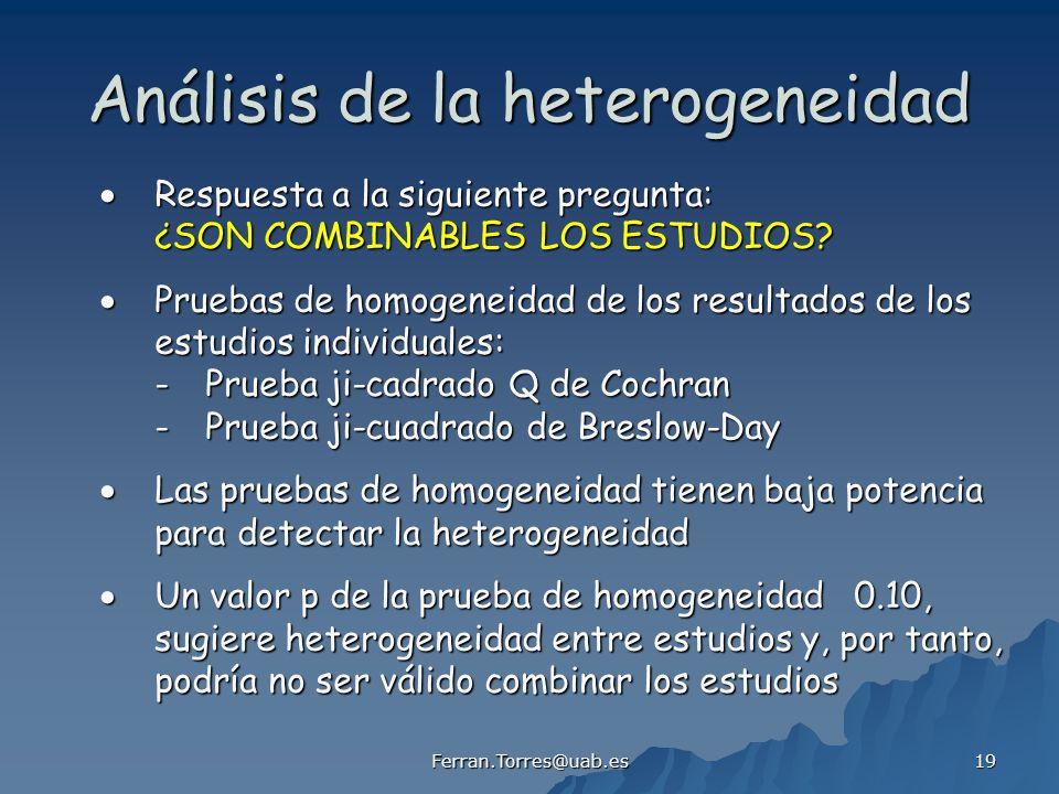 Análisis de la heterogeneidad