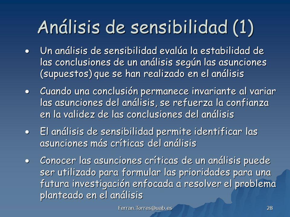 Análisis de sensibilidad (1)