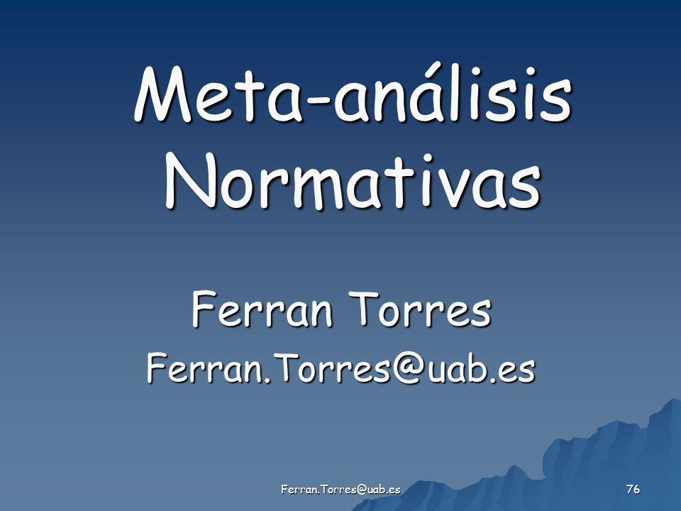 Meta-análisis Normativas