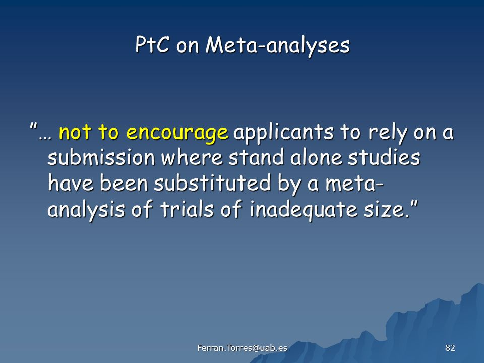 PtC on Meta-analyses