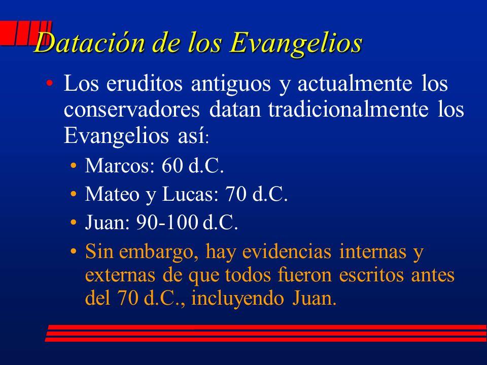 Datación de los Evangelios
