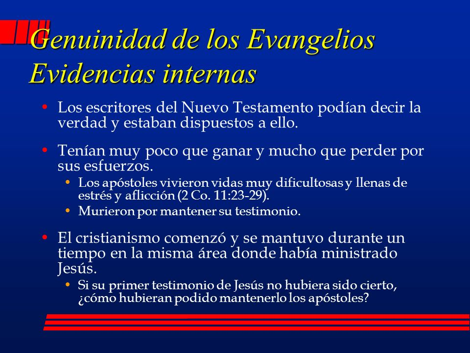 Genuinidad de los Evangelios Evidencias internas