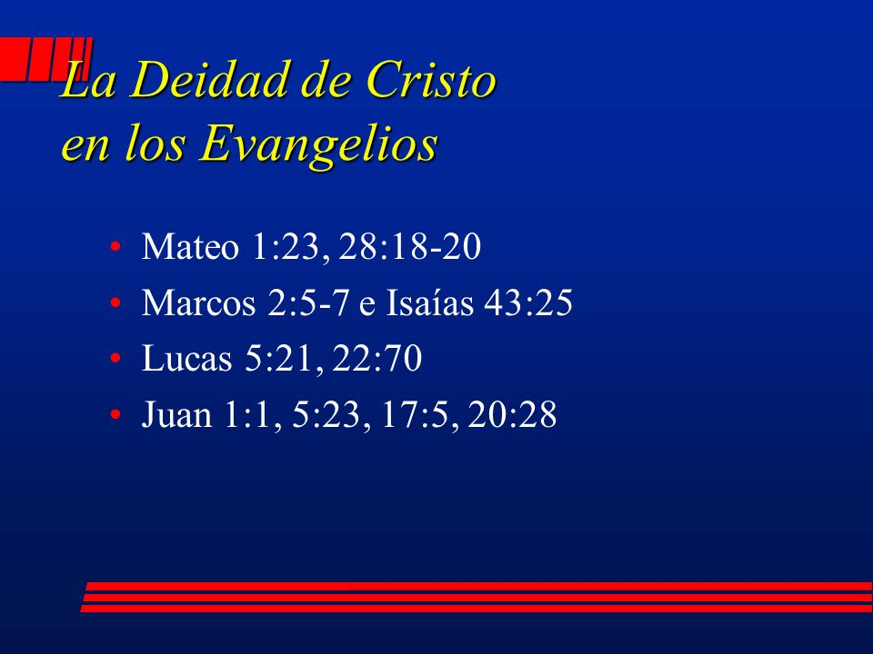 La Deidad de Cristo en los Evangelios